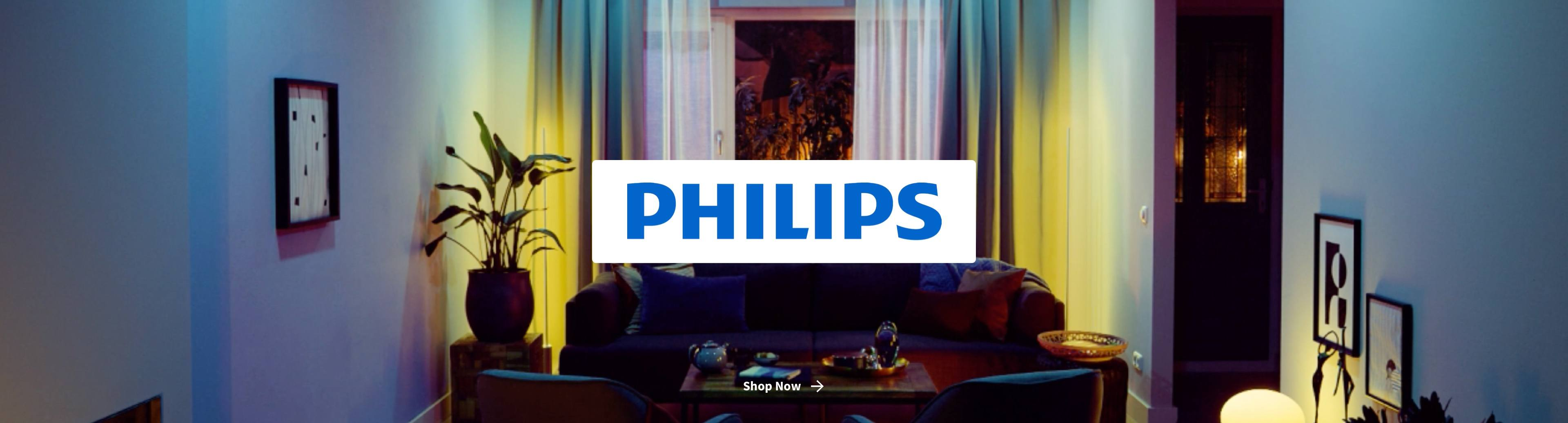 Philips Hue Lighting in living room
