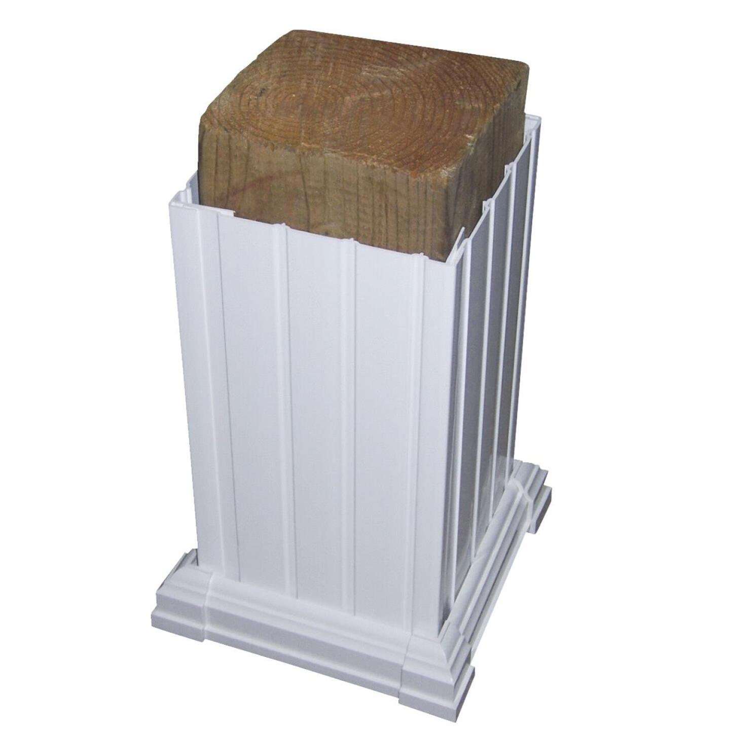 Beechdale 6 In. W. x 6 In. H. x 102 In. L. White PVC Fluted Post Wrap Image 3
