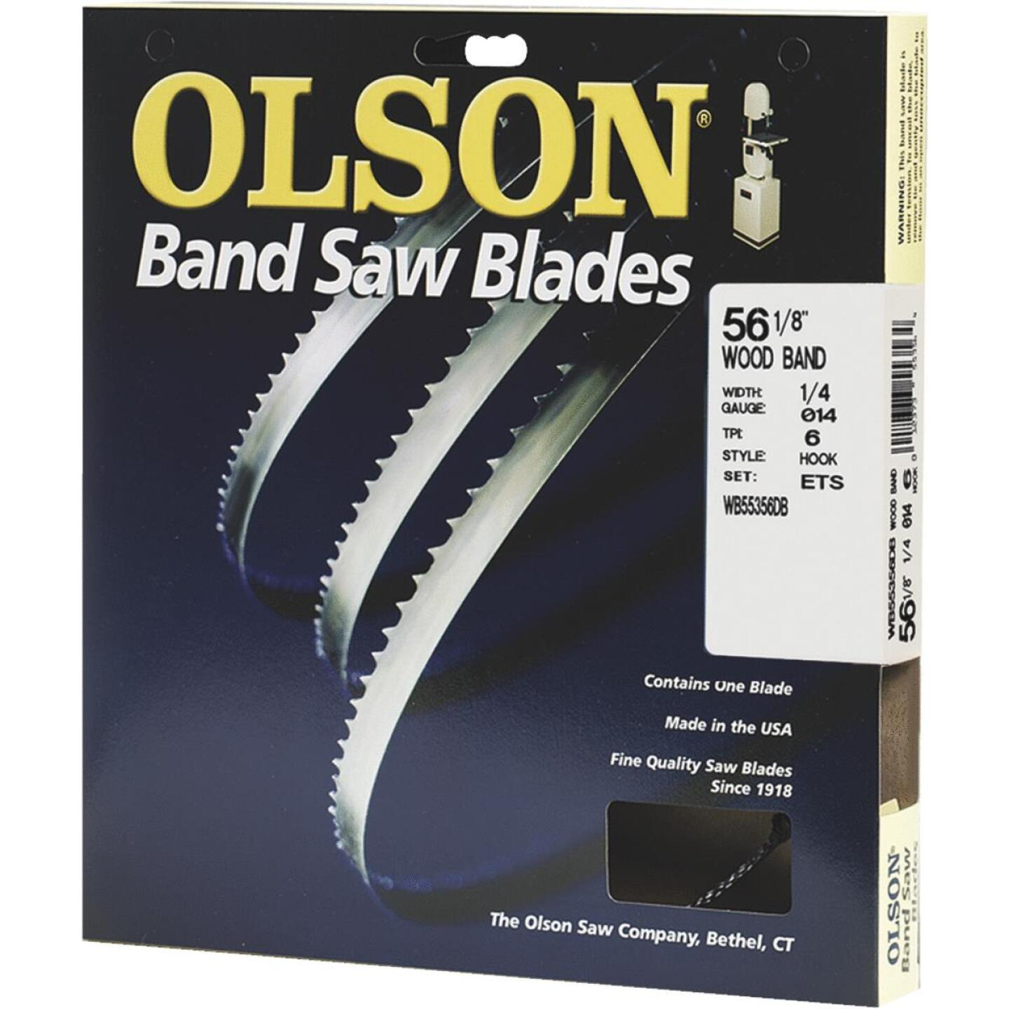 Olson 56-1/8 In. x 1/4 In. 6 TPI Hook Wood Cutting Band Saw Blade Image 1