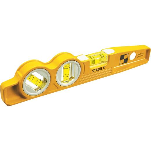 Stabila 10 In. Aluminum Magnetic V-Groove Torpedo Level