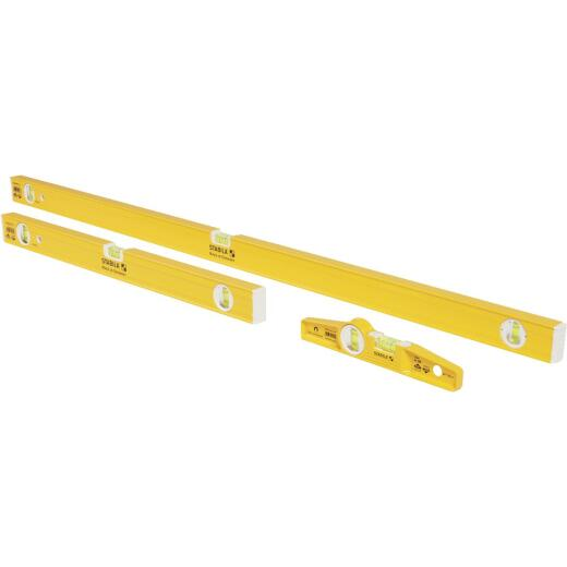 Stabila 18 In. Torpedo and 48 In./24 In. Aluminum Box Level Set